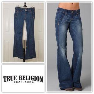 True Religion Sammy Trouser Flare Jeans - Size 27